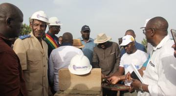 DWS project, laying of the first stone in the town of BOUGOUNI